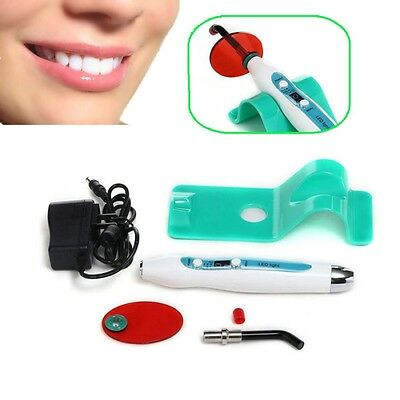 Dentist Dental 5W Wireless Cordless LED Curing Light Lamp 1500mw w green base