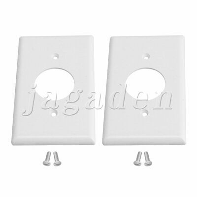 2PCS Decorator Single Gang Home Electrical Outlet Cover Power Socket 115x70mm