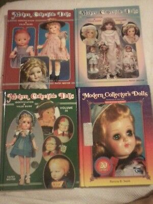4 Modern Collector's Collectible Dolls Books Hardcover price guides lot Moyer