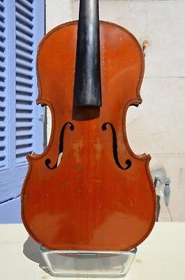 Signed Collin Mezin 1912 old French violin with case