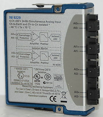 Neu National Instruments Ni 9229 Analog Eingabe Modul