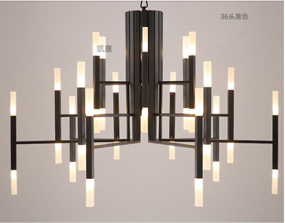 Industrial Metal Branch Pendant Light Glass 24/36LED Chandelier Ceiling Fixtures