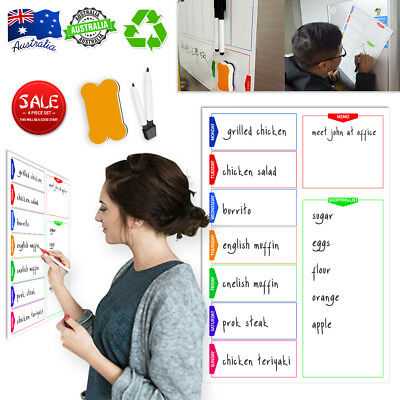 Hi-Q A3 Magnetic Whiteboard + 3 Gift Fits Home Office School Weekly Planner List