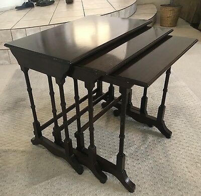 Pre-owned Vintage Ethan Allen Georgian Court Nest of Tables