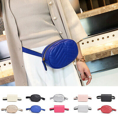 Women Waist Fanny Pack PU Leather Hip Belt  Zipper Pouch Sport Chest Bag New