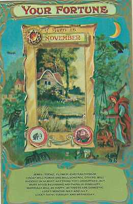 Your Fortune If Born In November Reproduction Postcard
