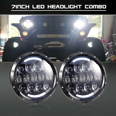2x For Freightliner Century Class 7'' LED Projector Headlight Hi/Lo Beam DRL  SE