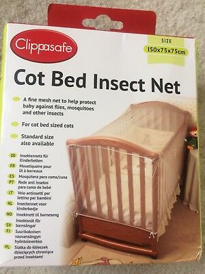 Clippasafe Cot Bed Insect Net BRAND NEW IN BOX