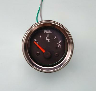 """Fuel Gauge, 2""""/ 52mm, black/chrome, with harness"""
