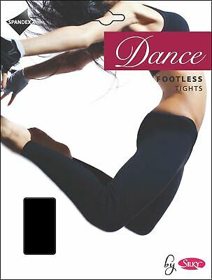 Girls Silky Dance 60 Denier Footless Tights Black, Tan or Pink
