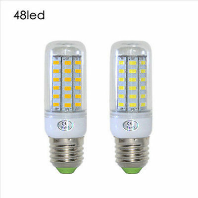 E27 48-SMD Corn LED 5730 LED 12W Cool / Warm White Lights Bulb AC 110V / 220V
