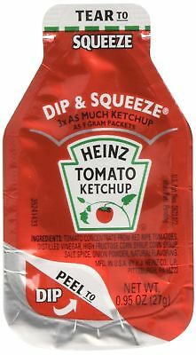 Heinz Tomato Ketchup, 0.95-Ounce Single Serve Packages (Pack of 100) --- 3x M...