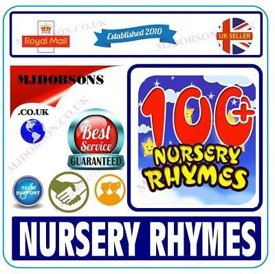 Songs Nursery Rhymes and Children's  100 Sing-A-Long Party on CDs  ✅