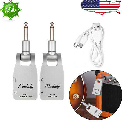 2.4G Wireless Guitar System Transmitter & Receiver Built-in Lithium Battery I8P8