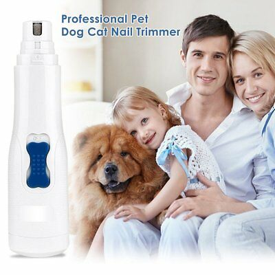 Pet Dog Cat Claw Toe Nail Trimmer Grooming Tool Care Grinder Electric Clipper
