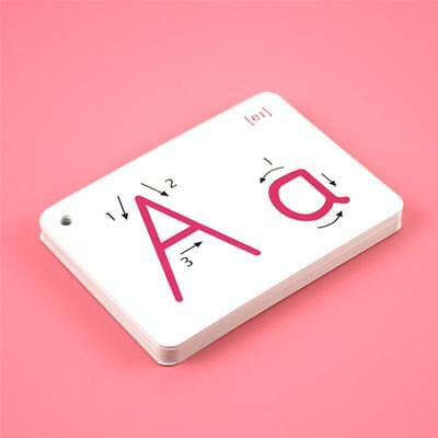 Kids 26 Letter English Flash Card Handwritten Learning Card Educational Toy FI