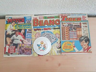 comics with free gifts x 3 Beano Tiger & Match