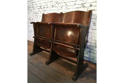 Vintage Cinema Bench, Two Seater, 1930s