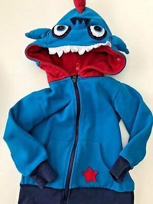 Hoodsbee Full Zip Sweatshirt Hoodie Jacket Monster Kids Boy 4 4T Halloween D1352