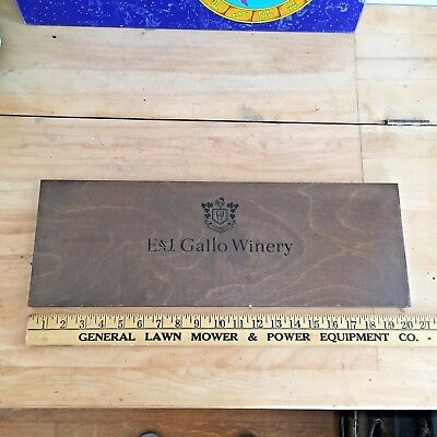 Ernest & Julio Gallo Winery plywood Point of sale sign - wine - vineyard