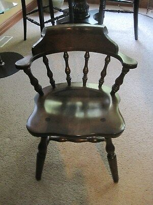 Vintage Colonial Chair By S Bent U0026 Brothers. Made In Gardner Mass.