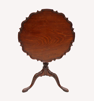 A Beautiful 19Th Century Carved Mahogany Tripod Table