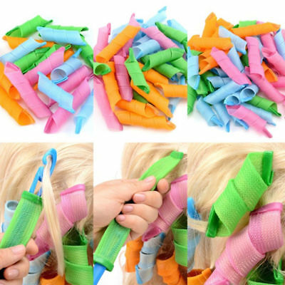 18Pcs DIY Hair Curlers Rollers No Heat With 1 Set of Styling Hook Roller Tool