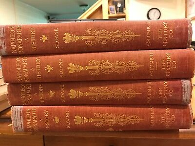 4 Vol 1909 Hard Back Book Set NAPOLEON BONAPARTE A HISTORY William Sloane