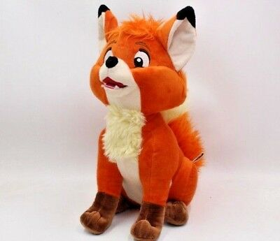 """New Disney The Fox and the Hound Classic Tod 13"""" Plush Toy Adorable"""