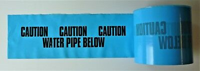Water Pipe Below Underground Warning Tape 160mm x 365m rolls