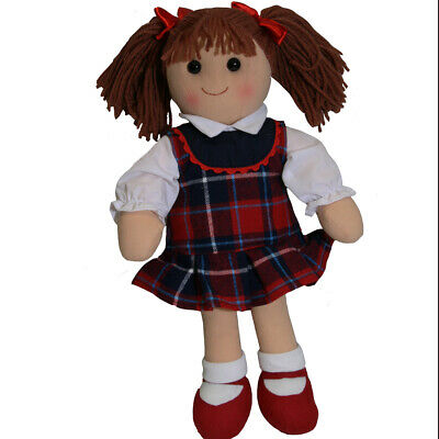 "Hopscotch Rag Doll Girl Charlotte 14""/35cm soft toy doll"