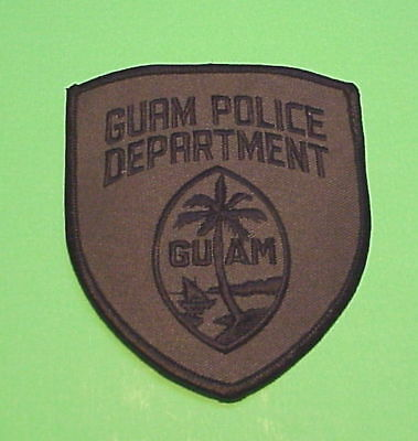 Guam ( Subdued  Black/green  )   Police Patch  Free Shipping!!!