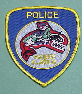 Haines  Alaska  Ak   Police Patch    Free Shipping!!!