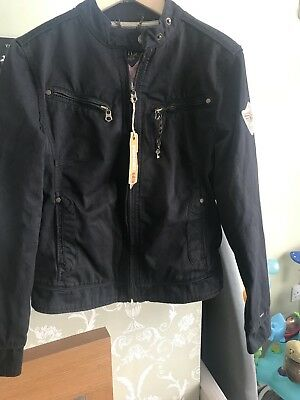 New With Tags Black hilfiger denim jacket Size Large