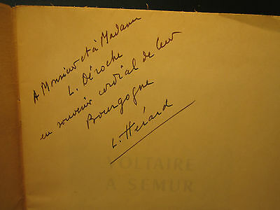 Lucien Herard Voltaire a Semur 1962 SIGNED softcover French professor politician