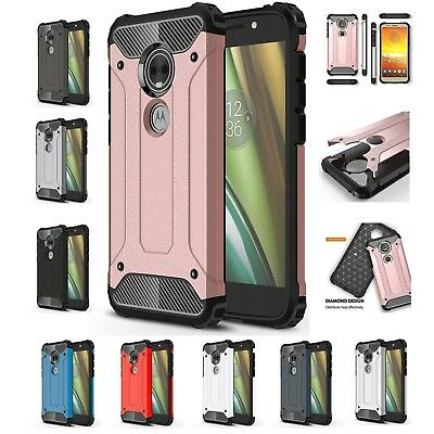 Heavy Duty Armour Shockproof Cover Case For Motorola Moto Z G4 G5 G6 Plus E5Play