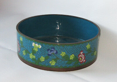 Antique, Beautiful Floral Chinese Cloisonné Bowl, Marked CHINA on bottom