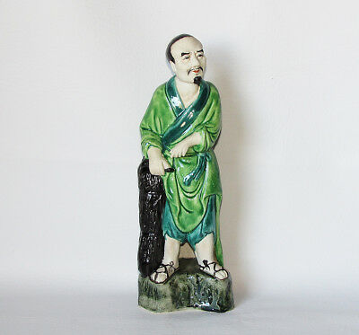 Antique Porcelain, Chinese Old Man Figurine Statue