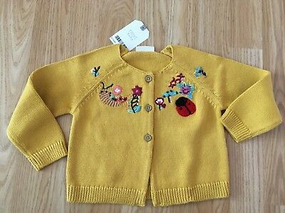 New Next baby girls cardigan 9-12 months