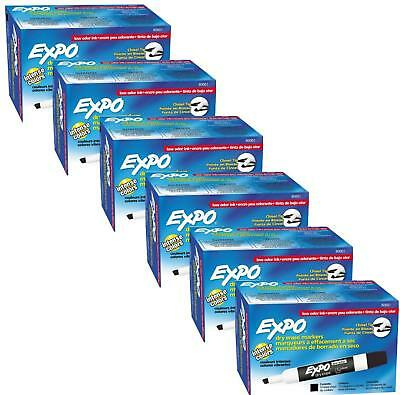 Expo 80001 Low Odor Chisel Point Dry Erase Markers, Low Odor Alcohol-Based Ink,