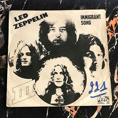 """Led Zeppelin 7"""" nur only Cover Immigrant Song !!! Hard Rock !!!"""