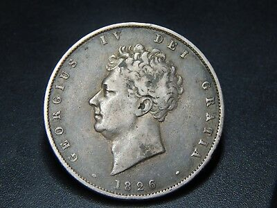 1826 George IV Silver Half Crown