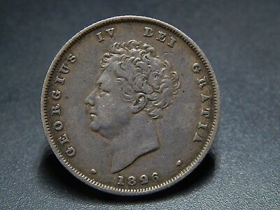 1826 George IV Silver Shilling Very High Grade