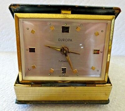 Vintage Novelty EUROPA 7 Jewel ALARM CLOCK 'BOOK OF TIME'