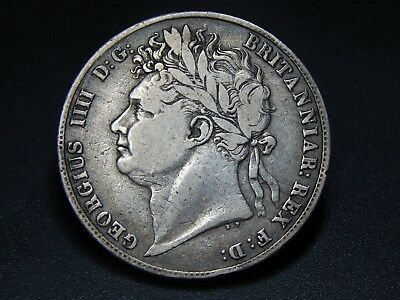 1821 George IIII Silver Half Crown