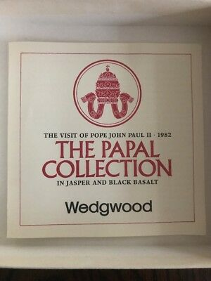 Wedgwood Plate The Papal Collection in Jasper and Black Basalt Limited Edition