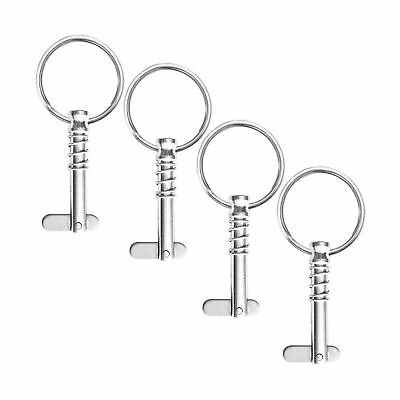 """VTurboWay 4 Pack Quick Release Pin 1/4"""" Diameter w/Drop Cam & Spring, Full 31..."""