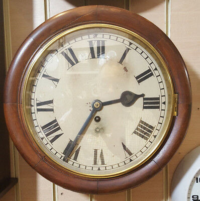 Vintage Circular Office Wall Clock with 8 Day Fusee Movement