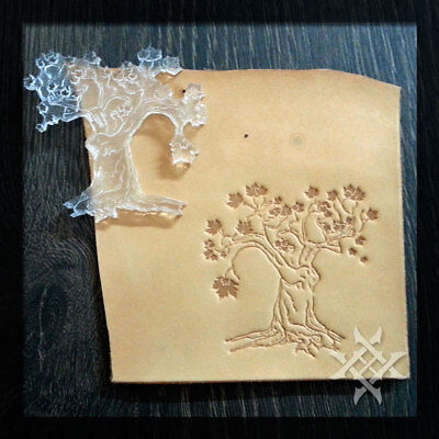 Stylish Tree Leathercraft Embossing Stamp. For embossing VegTan Tooling Leather