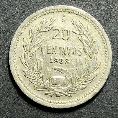 20 Centavos 1938 Chile Coins-4-You